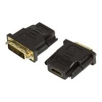 Перехідник штекер DVI гніздо HDMI