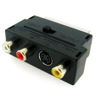Перехідник SCART - 3 RCA + S Video (вхід-вихід)